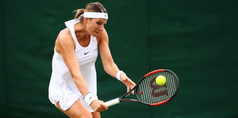 Mandy Minella jogou a primeira ronda de Wimbledon (HOJE) grávida de 4 meses e meio