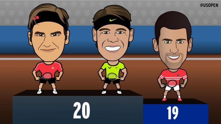 Djokovic morde os calcanhares a Federer e Nadal no trono dos Grand Slams