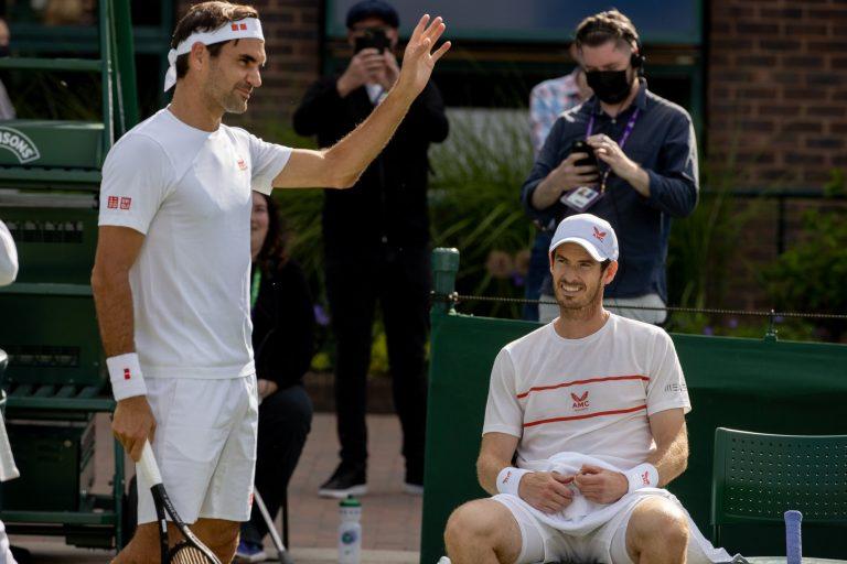 A definição de treino de luxo: Federer e Murray afinam armas para Wimbledon juntos