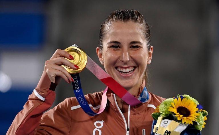Belinda Bencic é campeã olímpica em Tóquio'2020
