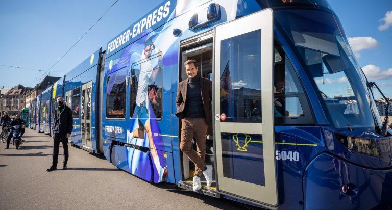 Roger Federer já tem um comboio com o seu nome em Basileia