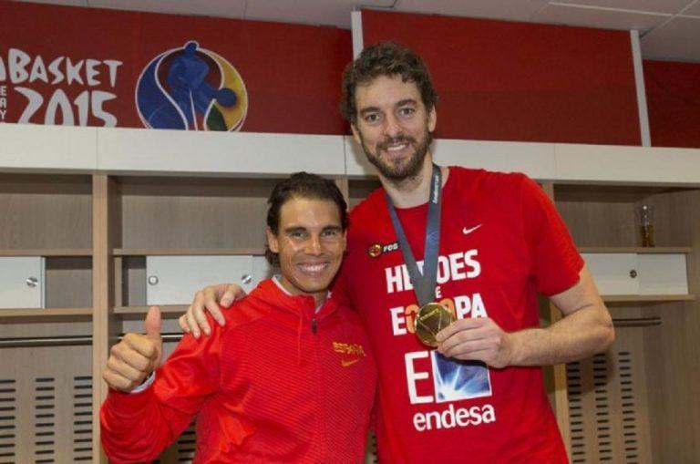 Nadal emociona-se no adeus de Pau Gasol: «É uma das grandes lendas do desporto espanhol»